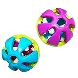 DierCosy 2pcs Plastique de Bell Balle Jouets pour Petits Oiseaux Cockatiel Lapin HamsterRamdom Couleur