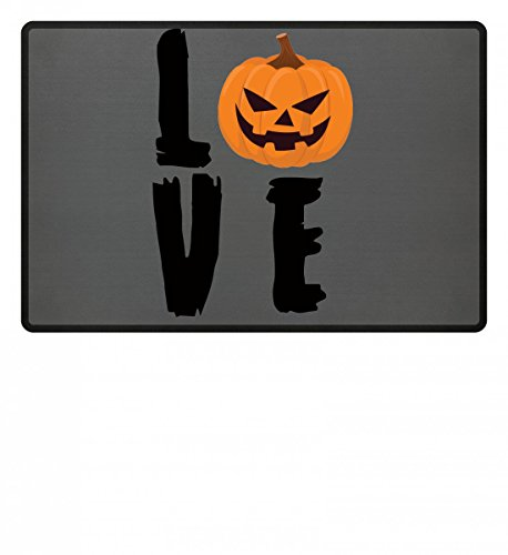 Love Pumpkin - Kürbis Happy Halloween - Geschenk - Funny Gift Idea - Trick or Treat - Fußmatte (Tricks, Halloween Für Ideen)