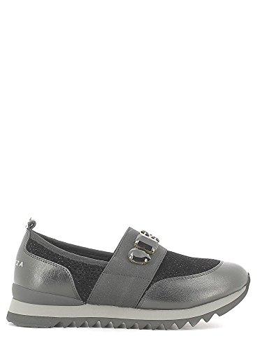 Apepazza DLY12 DAISY scarpa donna senza stringhe tessuto pelle nera con pietre (38)
