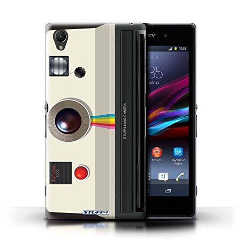 Kobalt® Imprimé Etui / Coque pour Sony Xperia Z1 / Instantanée Retro conception / Série Appareil Photo Instantanée Retro