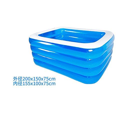 Preisvergleich Produktbild Aufblasbares Schwimmbad Planschbecken Kinder Erwachsenenhaus Familienpool,  2 Meter und 4 Etagen