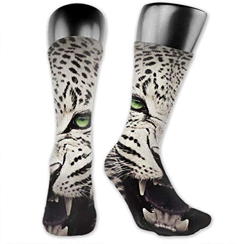 HiExotic Strümpfe Breathable Leopard Howl High Ankle Stockings Breathable Exotic Psychedelic Print Compression Elastic Socks Men Women - Leopard Print Garter