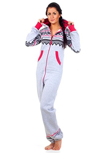 Loomiloo® Jumpsuit Onesie Overall als Freizeitanzug Hausanzug Trainingsanzug -