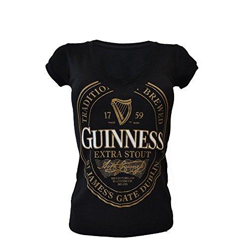 Guinness Label (Guinness Damen T-Shirt Label in Gold)