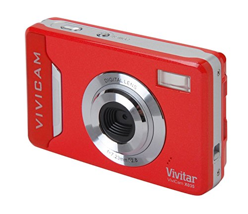 Vivitar VX035 Digitalkamera (10 Megapixel CMOS Sensor, 4X dig. Zoom, 5,6 cm (2,2 Zoll) Display) rot Zoom Vivitar Vivicam
