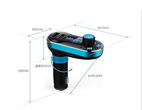 SHISHANG Neuer BT66 Auto-drahtloser FM Übermittler u Scheibe MP3 Bluetooth freihändiger doppelter USB-Hafen, der Unterstützungsspiel-Handy-Musik-Zigarettenbrenner spielt , 002
