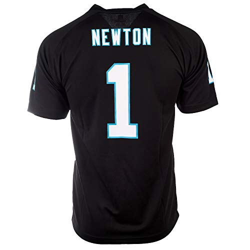 Outerstuff Cam Newton Carolina Panthers #1 NFL Jugend Performance Player Trikot, Schwarz (Jugendliche 8-20), schwarz, Youth X-Large 18/20 (Nfl-panther-trikots)