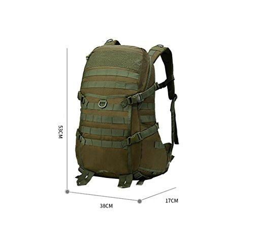 HWLXBB Outdoor Bergsteigen Tasche Männer und Frauen 45L Wasserdichte Mehrzweck-Bergsteigen Tasche Wandern Camping Bergsteigen Freizeit Rucksack Rucksack 3*