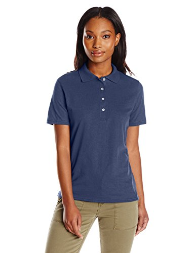 Hanes - T-shirt de sport - Manches Courtes - Femme Bleu Marine