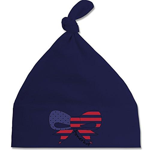Städte & Länder Baby - America Schleife - Unisize - Navy Blau - BZ15 - Baby Mütze mit einfachem Knoten als Geschenkidee (United States Navy Cap Mütze)