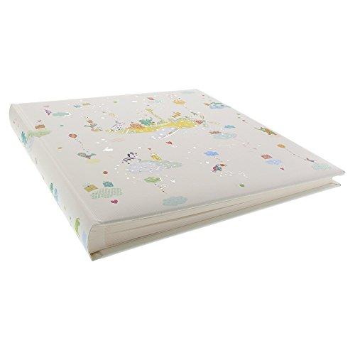 Goldbuch Babyalbum Baby on Tour, 30x31 cm, 60 Seiten mit Pergamin, Kunstdruckpapier mit Silberprägung und Relief, 15270