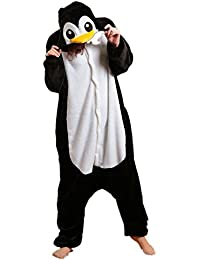 Samgu-manchot animal Pyjama Cospaly Party Fleece Costume Deguisement Adulte Unisexe