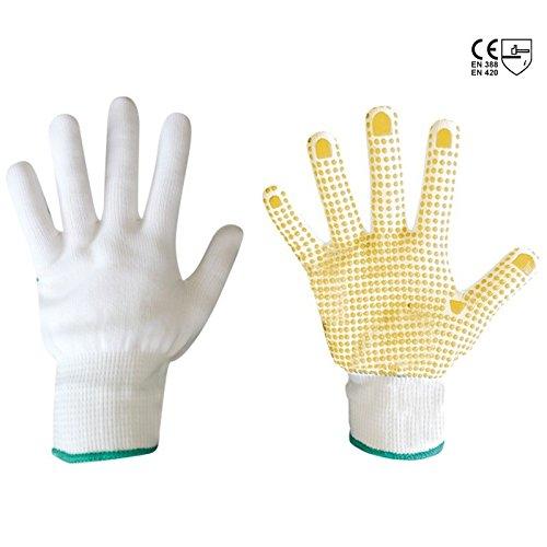 Set 6Paar Handschuhe Nylon verstärkte Handfläche aus PVC Nylon-handschuh