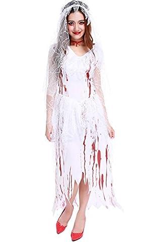 Honeystore Damen's Halloween Zombie Braut Kleid Kostüm Vampir Cosplay Karneval