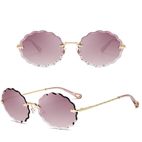 JYTDSA Round Big Size Oversized Lens Mirror Sunglasses Women  Metal Frame Lady Sun Glasses Lady