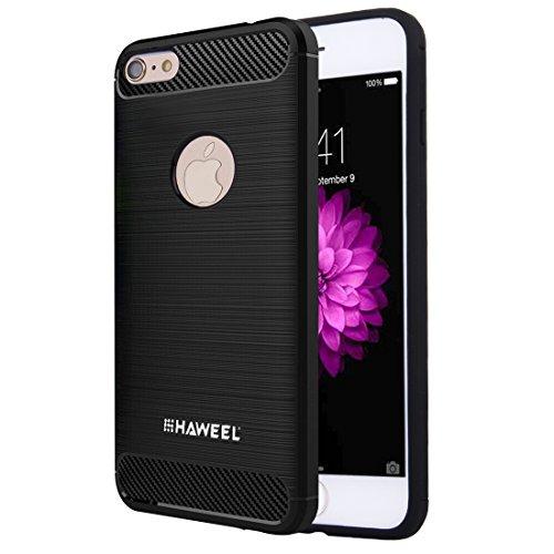 Ruiyue Fall für iPhone 6 u. 6s, gebürsteter Kohlenstoff-Faser-Beschaffenheit Shockproof TPU schützender Fall ,Iphone 6 plus Case ( : For iphone 6+6s ) (Plus Iphone Fall Kohlenstoff-faser 6)