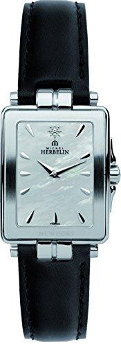 Michel Herbelin-Newport Yacht Club Women'Armbanduhr Analog-Anzeige und schwarzem Lederarmband 174 56 (DE) 19/N