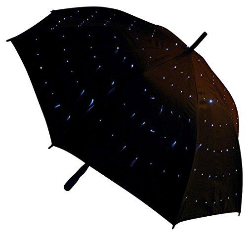 LED Sternenschirm weiß - leuchtender Sternenlicht Regenschirm, Weihnachtsgeschenk, Geschenkidee Weihnachten, Präsent
