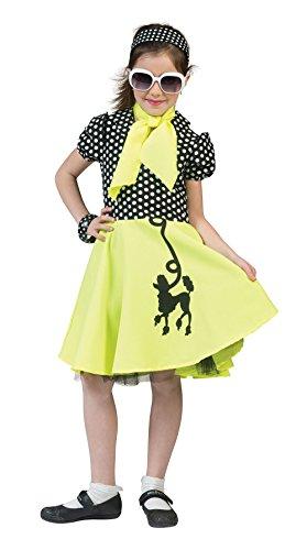 Poodle Dress - Giallo / Nero - bambini Costume - Medium - 122 a 134 centimetri