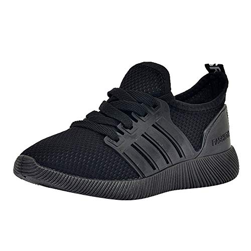 OSYARD Basket Sneakers Femme pour Running Chaussures de Course Lacets Solide Respirant Jogging Occasionnel Shoes