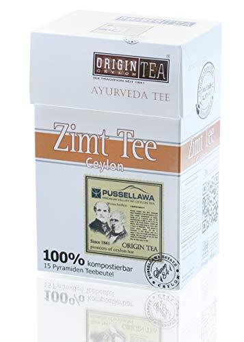 Origin Ceylon Tea 100% Purer Ceylon Ayurveda Zimt Tee 15 Pyramiden-Teebeutel direkt von der Plantage aus Sri Lanka