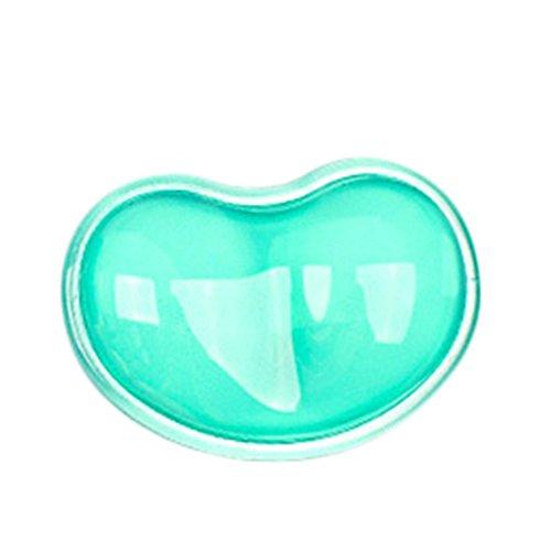Leisial™ Cojín de Ratón Reposamuñecas Transparente Gel Resto de Muñeca Almohada de Mano Forma de Corazón Gel de Sílice