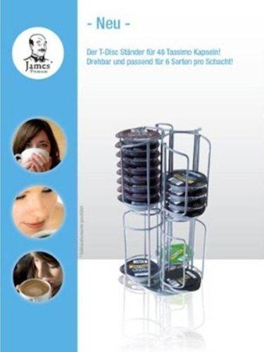 James Drehständer die Lösung für Tassimo T-Disc 48 St. von James Premium® im Edelstahldesign