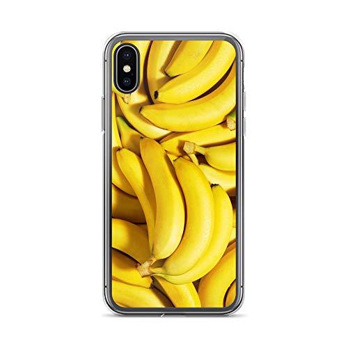 �lle Obst kompatibel für Huawei P30 PRO Banane Bananen Schutz Hülle Case Bumper transparent rund um Schutz M1 ()