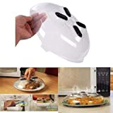 Cartshopper Magnet Food Splash Guard Microwave Anti-Sputtering Hover Cover with Steam Vents Magnetic