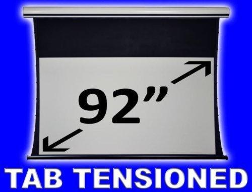 92 Elektrische Leinwand (Tab-Tensioned-Projektionsleinwand (2,34 m (92 Zoll), 16:9, elektrisch, mit Fernbedienung), Mattgrau)