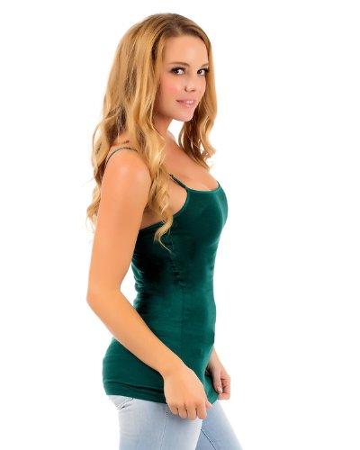 appareldeals Luftiges Sommer Basic Damen Top Shirt/in Vielen Versch. Farben und Größen Grün