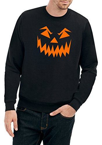 Halloween Face Sweater Black Certified Freak-L