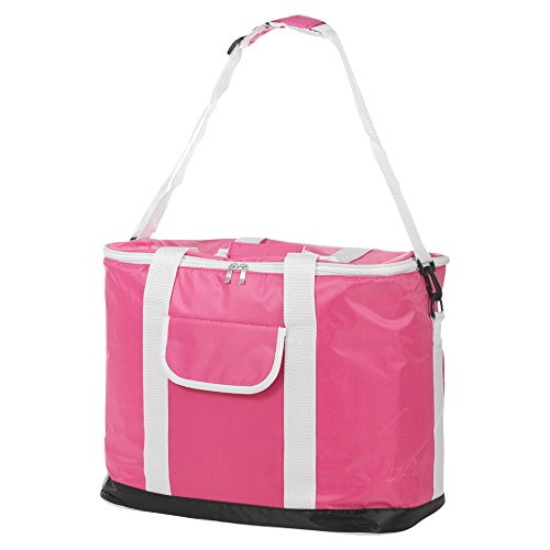 30L Extra Großen faltbaren isoliert Picknick Beach Gefrierschrank Kühltasche, Speisen Getränke Pink Rolling Soft Cooler