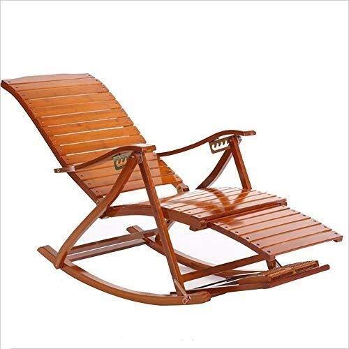 Schaukelstuhl Bambus Sonnenliegen Stuhl Verstellbare Liegen Erwachsenen Klapp Sommer Siesta Bett Massage Fußstütze - Bambus-stuhl-abdeckung