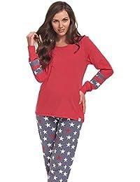 dn nightwear Damen Schlafanzug / Pyjama LOTTA / langärmlig