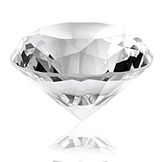 Anladia Large 60mm Crystal Diamond Clear Cut Shape Artificial Crystal Jewelry Wedding Gift Ornament