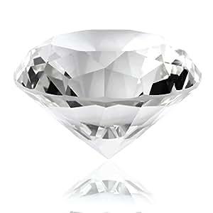Presse-papier Diamant en verre 60mm transparent