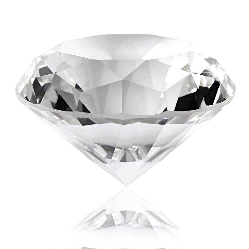 *DHL Versand bei Sofortdeins* 1 Stk. Kristall Glas Diamant Kristallglas Deko Glasdiamant Deko Diamant Glas Dekodiamanten 6cm Hochzeit Tischdeko
