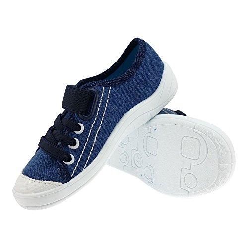 Gallux - Kinder Jungen Hausschuhe coole Sneaker Blau