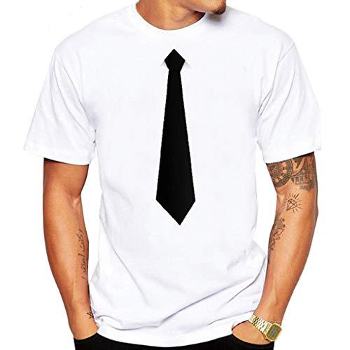 ODRD Herren T-Shirts Frühling Sommer Herren Sommer Modisches T-Shirt mit interessanten Krawatte Anzug Bluse Top Top Tanktop Bluse Hemden Langarmshirts Tee t Shirts - Snow Queen Strumpf