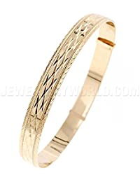 6mm 9ct Gold Expanding Bangle