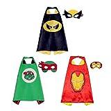 Costumes de Super Heros,Masque de Cape Super Heroes Enfants Deguisements...