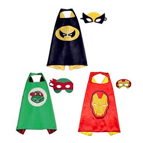 Kinder Umhang Maske,Kostum Kinder die Mantel Jungen und Madchen Spielwaren fur Geburtstag und Kinderkostum Partei - Kostüm Superhelden Boy