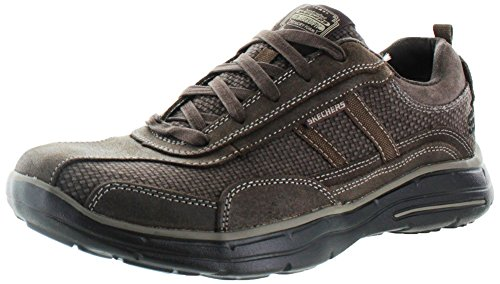 Skechers Glides Status, Sneakers basses homme Chocolat