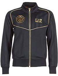Emporio Armani EA7 hommes sweat avec zip noir d7641e9bca0