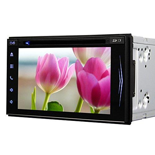 Doppel 2Din Car Stereo 6.5 Zoll-Auto-DVD-Video-Player Errichtet in der Bluetooth-Mikrofon AM FM RDS Radio-Steuerger?t Autoradio Multi Sprachen drahtlose Backup-Kamera Auto Stereo-decks