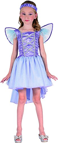 Lila Fee Kostüm für Mädchen 122/134 (7-9 (Lila Kostüm Fee)