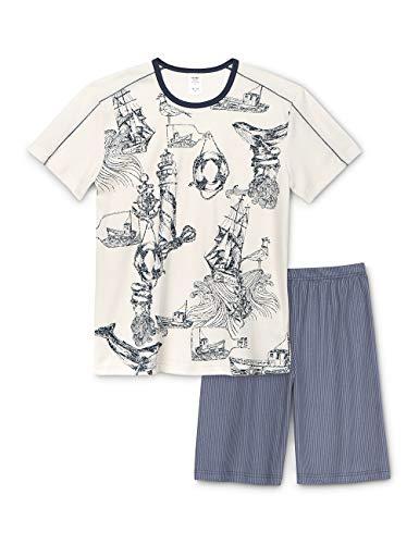 Calida Jungen Boys Nautic Zweiteiliger Schlafanzug, Mehrfarbig (Mountain Blue 448), 152
