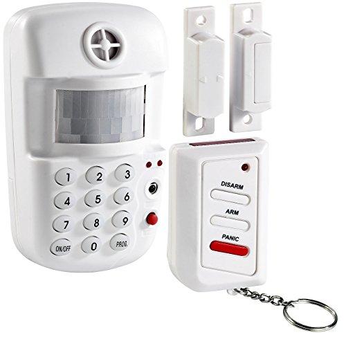 VisorTech Alarmanlage Keller: 3in1-Hausalarm mit Bewegungsmelder und Fenster-/Türsensor (Alarmanlage mit Bewegungsmelder)