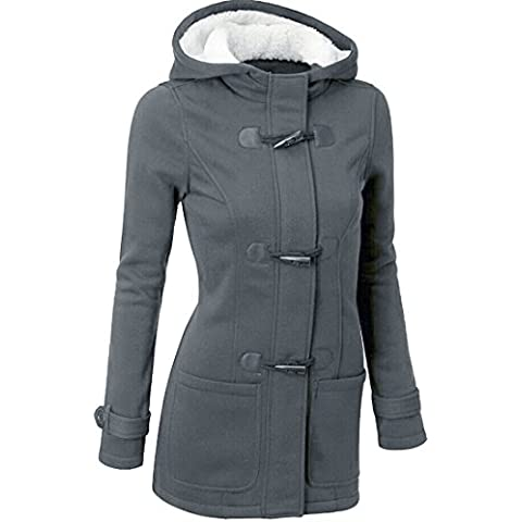 Xinantime Maniche Lunghe Cappotto Calda Lana Giacca